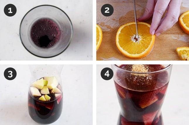 Fotos de cómo hacer sangría paso a paso