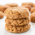 Foto cuadrada de 3 galletas de avena