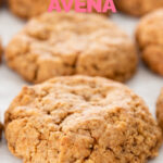 Foto de algunas galletas de avena con las palabras galletas de avena