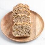 Foto cuadrada de 4 rebanadas de pan sin gluten
