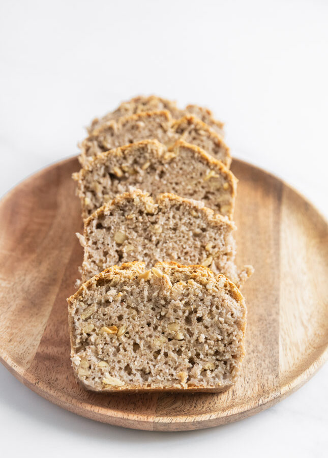 Foto de 4 rebanadas de pan sin gluten