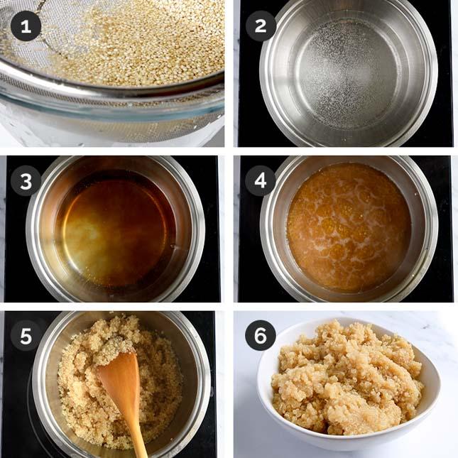 Fotos paso a paso de cómo cocinar quinoa
