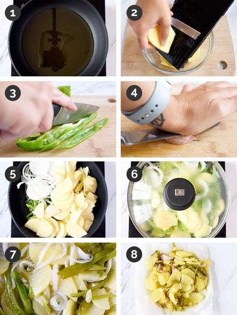 Fotos de cómo hacer patatas a lo pobre paso a paso